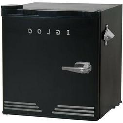 Igloo 1.6 Cu Ft Refrigerator, silver Trim, Black