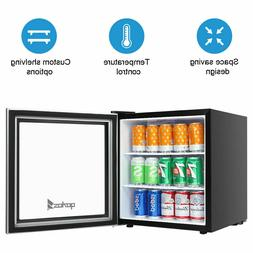 ZOKOP 1.6Cu.Ft/46L/60CAN Small Beverage Refrigerator Camping