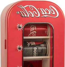 10 Can Soda Vending Machine Mini Fridge Retro Coca Cola Vint