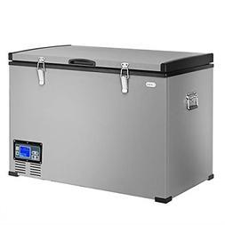 Costway 100-Quart 95L Portable Compressor Refrigerator/Freez