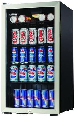 Danby 128 Can Beverage Center | Black & Stainless Steel | Mi