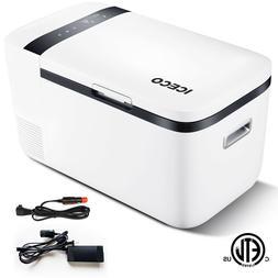 21QT Mini 12V Car Portable Fridge Freezer Electric Cooler Re