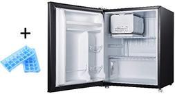 2.7 Compact Refrigerator Plus Bonus Mini Fridge Sized Ice Cu