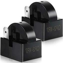 Teenitor 2 PCS QP2-4R7 4.7 Ohm 1 Pin Refrigerator PTC Starte