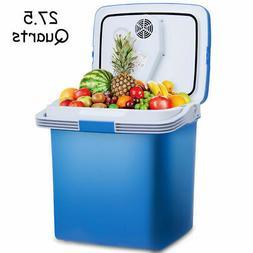 26L Portable Electric Cooler Fridge Food Warmer Digital Plug