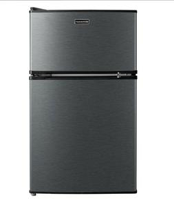 Emerson 3.1-Cu.-Ft. 2-Door Refrigerator/Freezer - Stainless