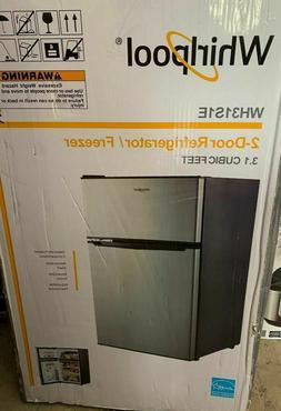 Whirlpool 3.1 cu ft Mini Refrigerator Stainless Steel BCD-88
