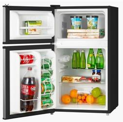 Emerson 3.1 Cu Ft Two Door Mini Fridge with Freezer, Stainle