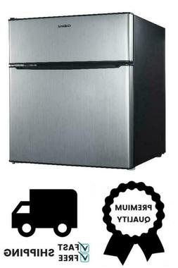 Galanz 3.1 Cu Ft Two Door Mini Fridge GL31S5, Stainless Stee