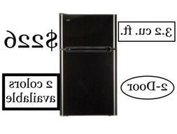 Haier 3.2 cu.ft. 2-door Compact Refrigerator. Black & Stainl