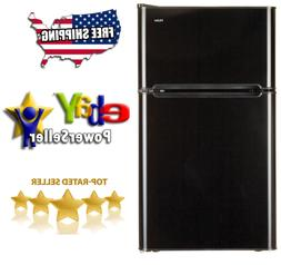 Haier 3.2 cu ft 2-Door Refrigerator, Black **Free Shipping**