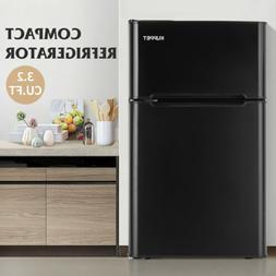 3.2 Cu Ft Compact Refrigerator 2-Door Mini Fridge Top Freeze