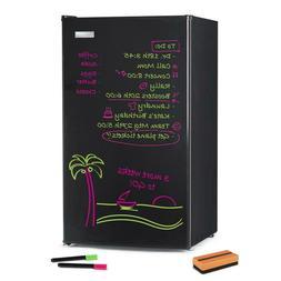 3.2 Cu. Ft. Dry Erase Board Single Door Refrigerator - Black
