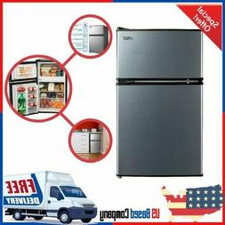 3.2 Cu Ft Mini Fridge Freezer 2 Door Compact Refrigerator St