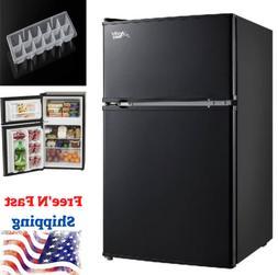 3.2 Cu Ft Mini Fridge Freezer 2-Door Compact Refrigerator Co
