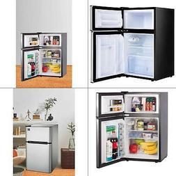 3.2 cu. ft. mini fridge in stainless | door rca steel rfr834