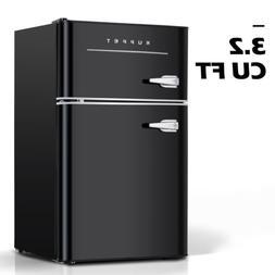 3.2 Cu.Ft Portable Fridge 2-Door Compact Mini Refrigerator H