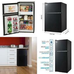 Arctic King 3.2 Cu Ft Two Door Mini Fridge with Freezer, Bla