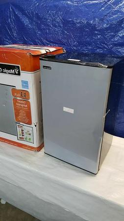 Magic Chef 3.3 cu. ft. Mini Refrigerator in Stainless Look