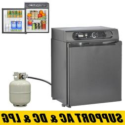 3-Way Propane Refrigerator Gas Fridge RV Compact Silent Free