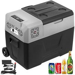 31.7QT Portable Fridge Freezer Trolley&Wheels LCD Display 12