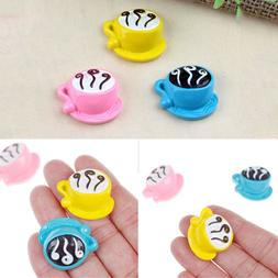 3pcs mini coffee cup toy kids diy kitchen room food drink to
