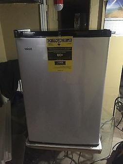 4.5 cu. ft. Mini Compact Refrigerator Virtual Steel Finish D