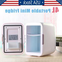 4L Mini Refrigerator Fridge Portable Travel Auto Car Freezer