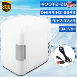4L Mini Refrigerator Fridge Portable Travel Auto Car 12V Fre