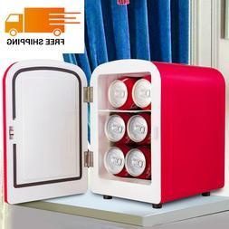 4L Portable Mini Fridge Cooler Warmer Heats Low-Noise Car Bo
