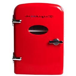 Frigidaire 6-Can Mini Retro Beverage Fridge - Red EFMIS121-R