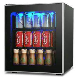 60 Can Drink Mini Beverage Refrigerator and Cooler for Offic
