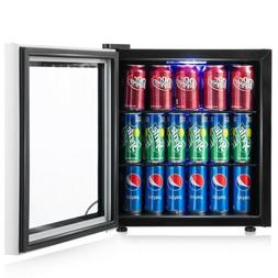 60 Can Home Beverage Mini Refrigerator Fridge with Glass Doo