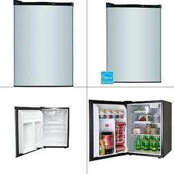 Magic Chef 2.6 cu. ft. Mini Refrigerator in Stainless Look,
