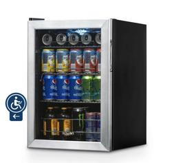 Newair - 84-can Beverage Cooler - Black/stainless Steel