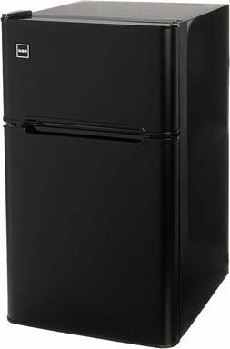 RCA-Igloo 3.2 Cubc Foot 2 Door Fridge and Freezer, Black