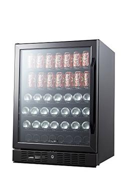 abr-1770b 177 can built in beverage cooler, black stainless