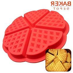 NAMTOM 1 piece BAKER DEPOT Silicone Waffle Mold Chocolate Mo
