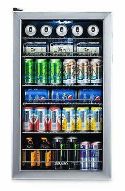 NewAir Beverage Cooler and Refrigerator Mini Fridge with Gla