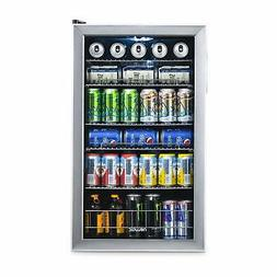 NewAir Beverage Cooler and Refrigerator Mini Fridge with Gla