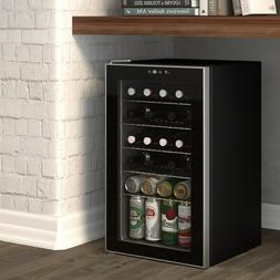 Beverage Refrigerator 85 Can Wine Cooler Mini Freestanding G