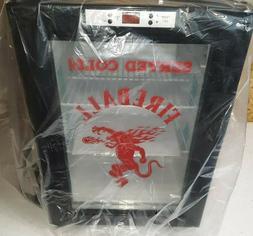 Brand New Counter Top Mini Fridge W/ Glass Door Fireball Whi