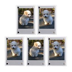 5 PCS Clear Fridge Magnetic Frame 60x90mm-Fuji Mini 8 8+ 9 7