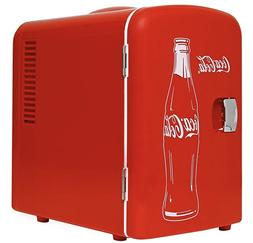 Coca Cola 4 Liter/6 Can Portable Fridge/Mini Cooler w/ AC &