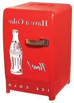 Coca Cola CCR-12 Vintage Retro Fridge Red Personal Compact R