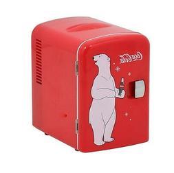 Koolatron Coca Cola Personal 6-Can Compact 4 Liter Mini Frid