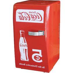 Coca-Cola Retro Mini Refrigerator, Personal Countertop Coke