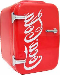 Coca-Cola Vintage Chic 0.14 cu. ft. Retro Mini Fridge in Red