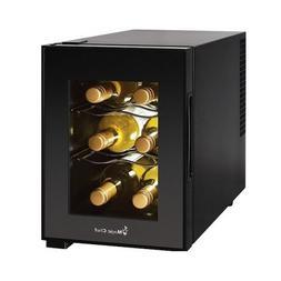 Compact 6 Bottle 2 Shelf Wine Cooler Cabinet Mini Refrigerat
