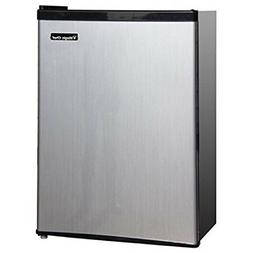 Magic Chef 2.4 cu ft Compact Single Door Refrigerator, Stain